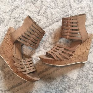 DV by Dolce Vita Caged Cork Wedges